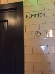 When in a country that doesn't speak the language you know, be sure you know how to tell the difference between the mens and women's room... the silhouette of the lady in a dress isn't everywhere when you may need it.
