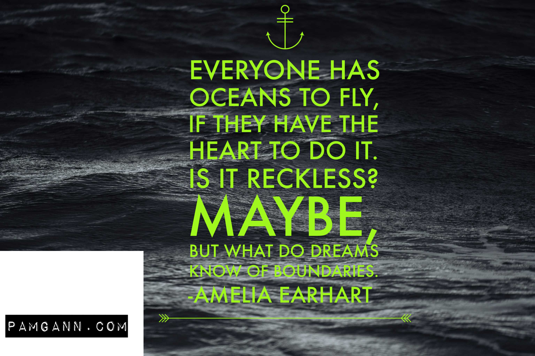 Everyone Has Oceans To Fly Amelia Earhart Travel Quote