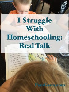 I struggle with Homeschooling