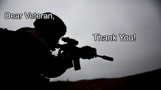 Thank you, Veteran!